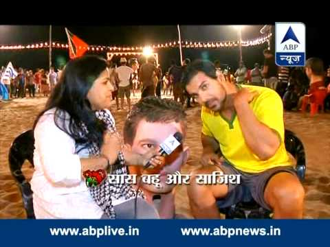 John Abraham plays football at Aksa beach