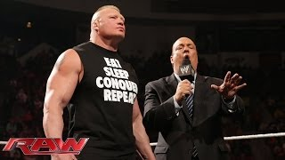 Paul Heyman discusses who should face Brock Lesnar at WrestleMania 30: Raw, Feb. 24, 2014