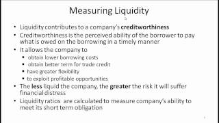 CFA Level I Working Capital Management Video Lecture By Mr