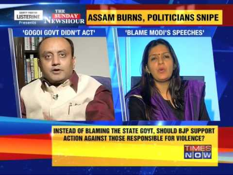 The Newshour Debate: Assam burns, politicians snipe - Part 1 (4th May 2014)