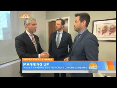 Hosts get testicular cancer exam on...