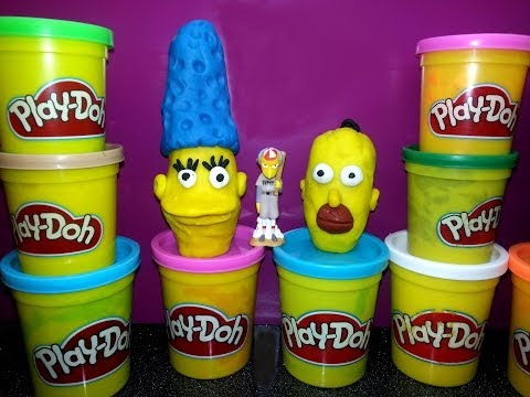 Play Doh The Simpsons Homer & Marge Playdough Play-Doh