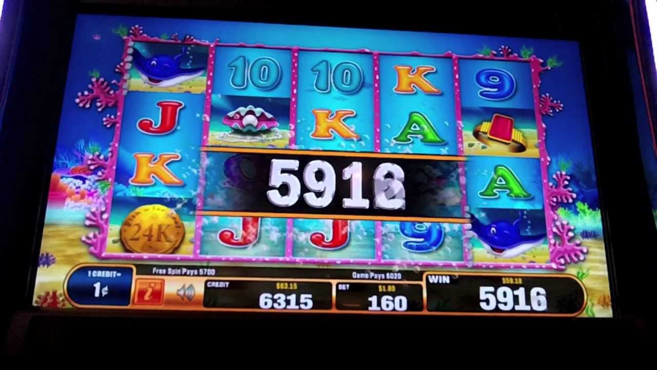 Bally fish 39 n for loot slot machine bonus youtube for Fish slot machine