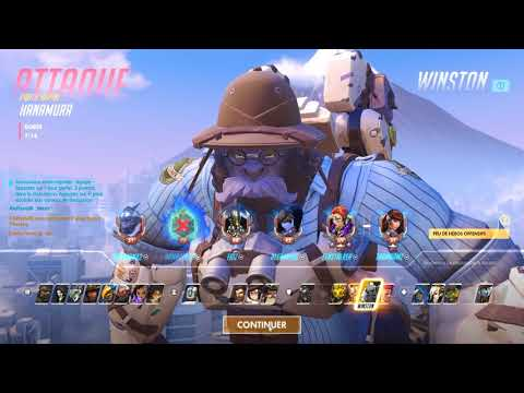 Overwatch Fr : Quick Play [Sombra + Winston]  :)