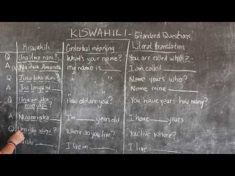 GO! presents: BEST Swahili Tutorials - Video #4 - STANDARD QUESTIONS (live from Tanzania)