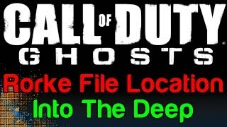 COD Ghosts: Into The Deep Rorke File Location (Call Of