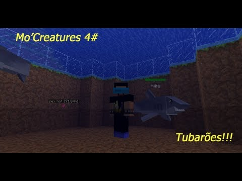 Minecraft Mo'Creatures 4# Cruzamento de cavalo e Tubarões !!!