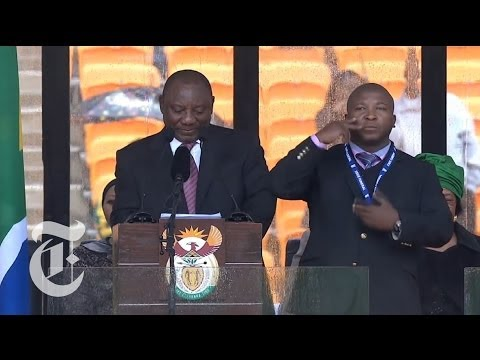 'Fake' Sign Language Interpreter at Nelson Mandela's Memorial