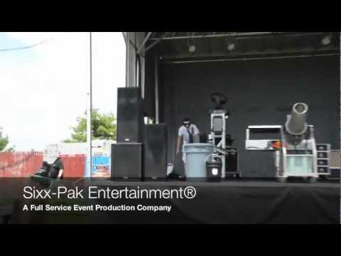 Gig Log Sixx-Pak Entertainment® Sound & Lighting Concert Set-Up Gig Log
