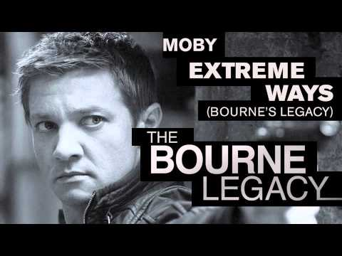 Bourne Legacy theme music: Extreme Ways (Bourne's Legacy) by Moby, A brand new version of the classic Moby track, recorded as the official theme music for the fourth Bourne movie 'The Bourne Legacy', in cinemas August 2012. ...