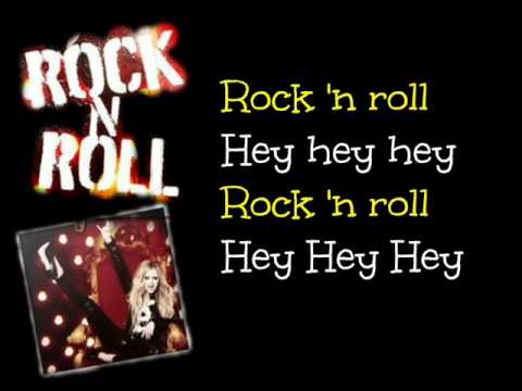 Rock N Roll - Avril Lavigne - Lyrics On Screen