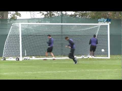INSIDE CITY 46: Tevez and Nasri training goals