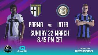 PARMA vs INTER on PES 2020 with INTER | QLASH (feat. INSA and KIRITO_YUUKI_00 vs DORIANFEAR) 🎮⚫🔵🙌🏻????