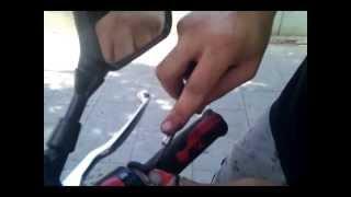 Como cambiar los puños de una moto