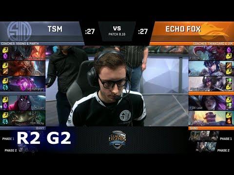 Echo Fox vs TSM - Game 2   Round 2 S8 NA Regional Qualifier for S8 Worlds 2018   TSM vs FOX G2