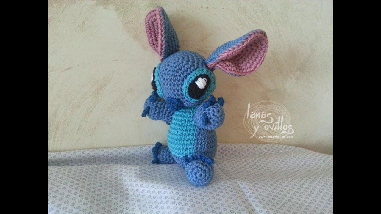 Amigurumi Disney Tutorial : Tutorial Stitch Amigurumi Paso a Paso (2 de 2) - YouTube