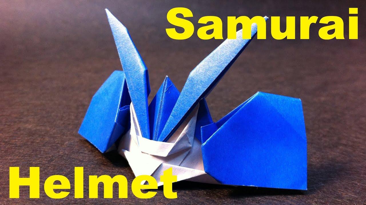 origami samurai helmet part 2 youtube