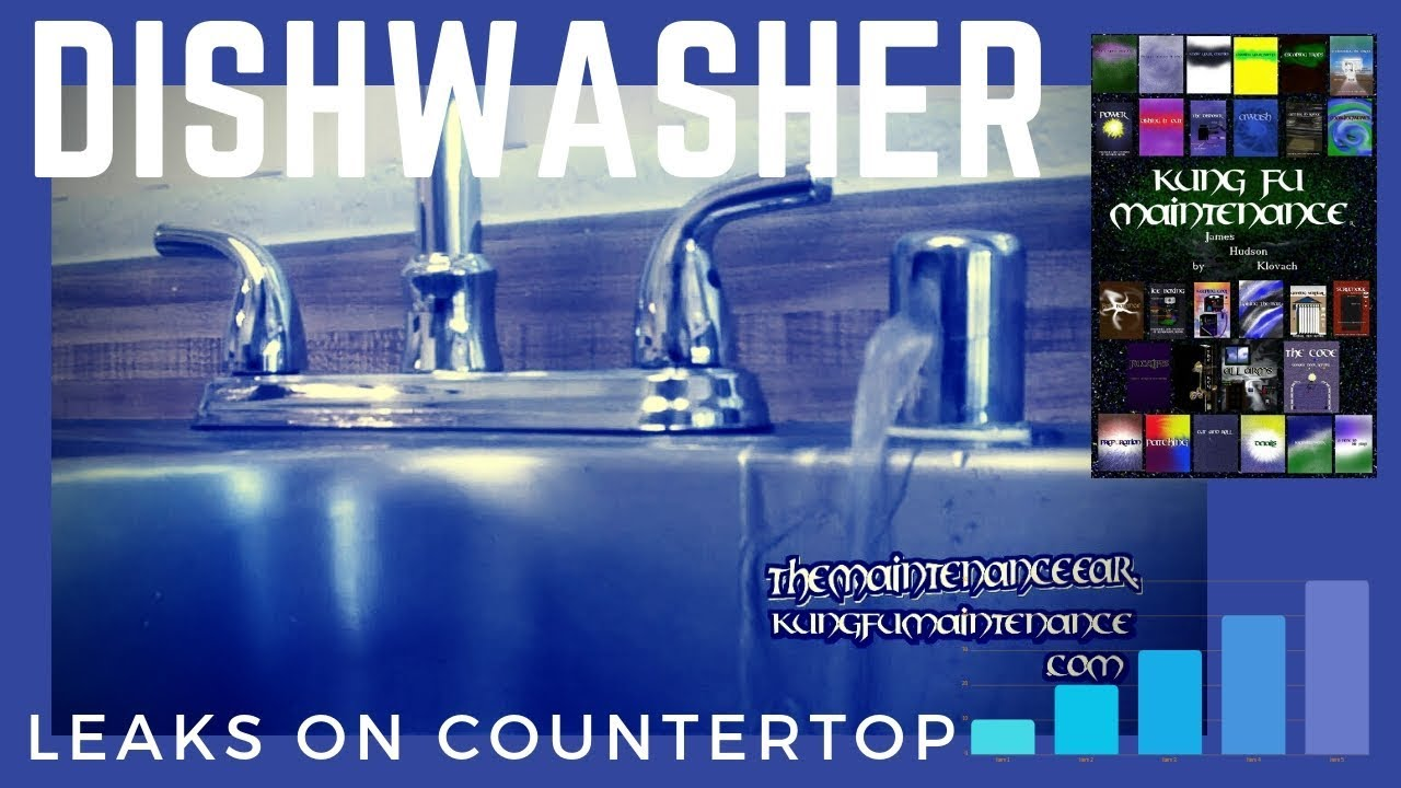 How To Stop Dishwasher Leaking Water From Sink Counter Top