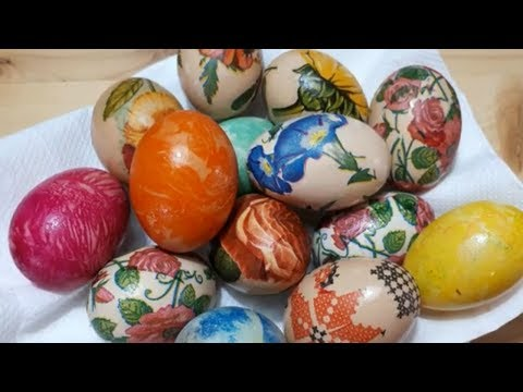 DIY 2 Easy Funny Faster Cheap ways to decorate Easter Eggs Happy Easter