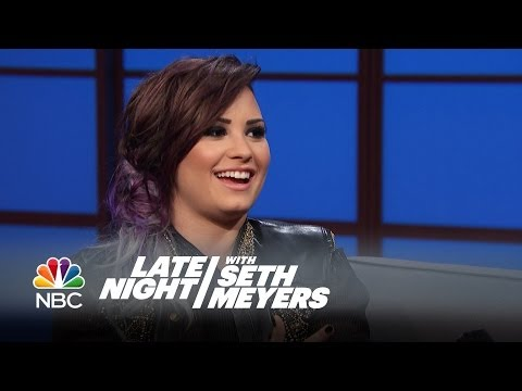 Demi Lovato Knows Aliens and Mermaids Are Real - Late Night with Seth Meyers
