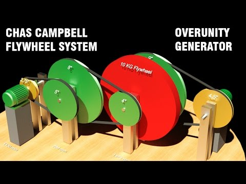 Free Energy Generator, CHAS CAMPBELL Flywheel System, Overunity