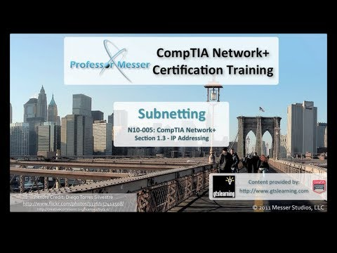 CompTIA Network+ N10-005: 1.3 - Subnetting -7t4CQdBhhMM