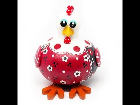 galinha cabaça frente vermelha