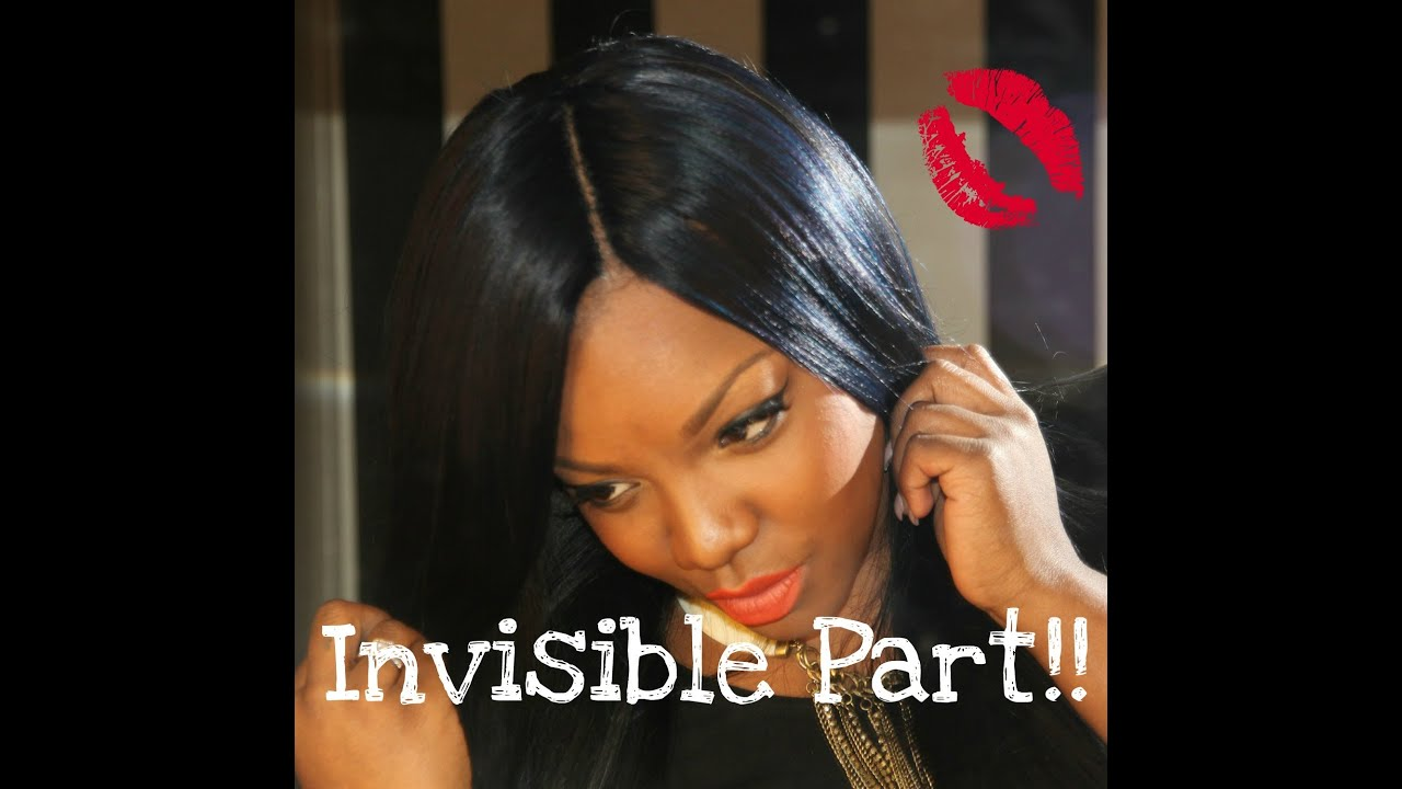 Invisible Middle Part Hairstyles