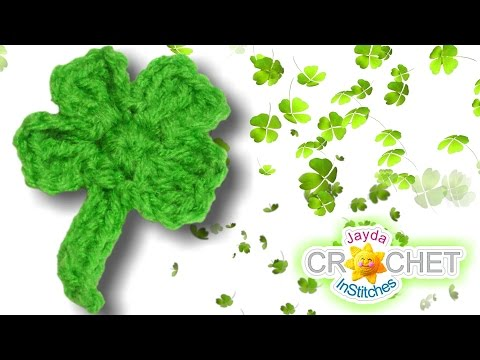 Four Leaf Clover Appliqué Crochet Tutorial