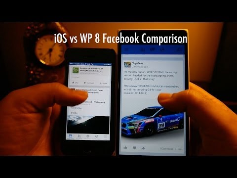 iOS vs Windows Phone 8 - Facebook App Comparison (Functionality / Features)