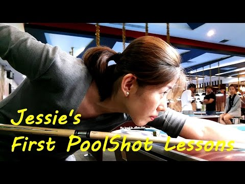 Jessie's First PoolShot Lessons & Trickshots - Pool & Billiard Training by PoolShot.org