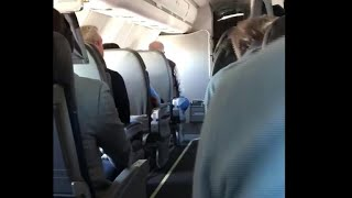 """Passenger captures the moment flight was told to """"brace for impact"""""""