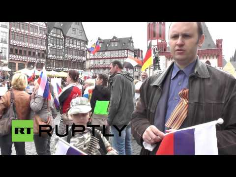 Germany: Pro-Russians rally against NATO in Frankfurt