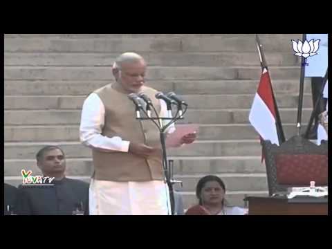 Shri Narendra Modi sworn in as the 15th Prime Minister of India.