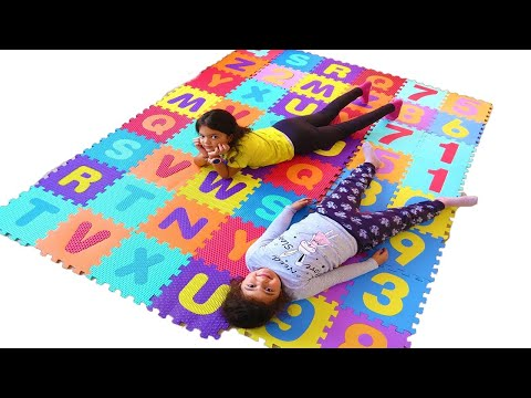 Masal and Öykü Learn English Alphabet for Children With Funny Kids