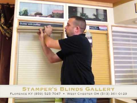 how to remove and reinstall a cordless hunter douglas honeycomb shade by stamper 39 s blinds. Black Bedroom Furniture Sets. Home Design Ideas