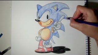 Cómo Dibujar A Sonic Paso A Paso Con Lápices Dibujos