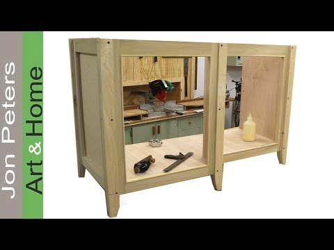 Build A Bathroom Vanity Cabinet Part 1 YouTube