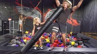 Ultimate Trampoline Park Challenge!!!