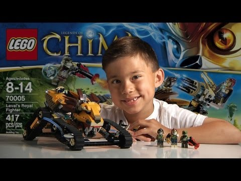 LAVAL'S ROYAL FIGHTER - LEGO Legends of Chima Set 70005- Time-lapse Build, Unboxing & Review