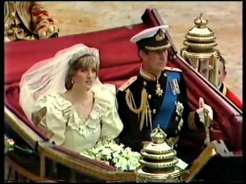 Royal Wedding of Charles & Diana july 29 1981