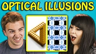 10 MIND BLOWING OPTICAL ILLUSIONS #2 with ADULTS (React)