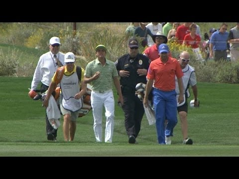 Sergio Garcia offers a gentlemanly gesture at Accenture