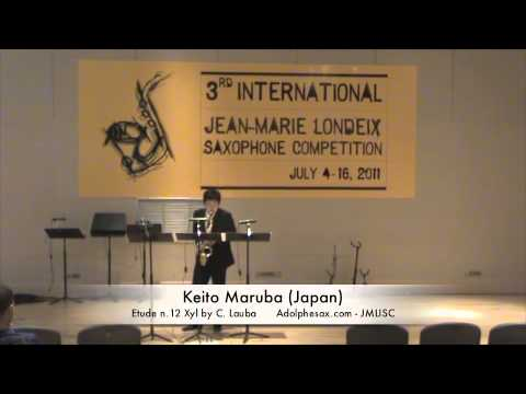3rd JMLISC: Keito Maruba (Japan) Etude n.12 Xyl by C. Lauba