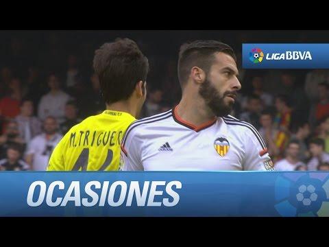 Todas las ocasiones de Valencia CF (0-0) Villarreal CF