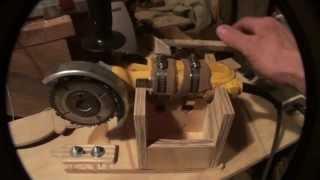 Homemade Wood Lathe Duplicator Using An Angle Grinder