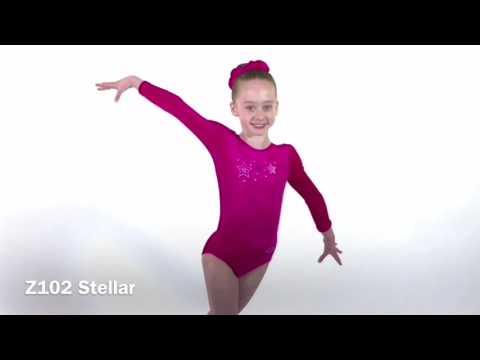 Stellar Long Sleeved Motif Gymnastics Leotard