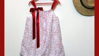 Hacer un vestido para niña con una funda de almohada