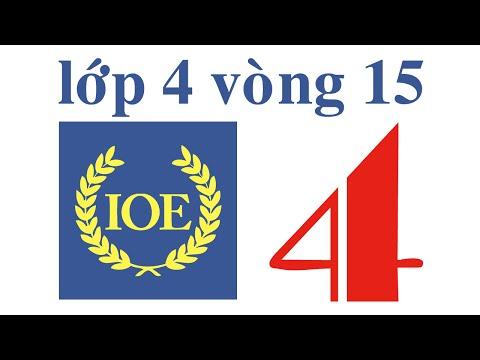 IOE Olympic Tiếng Anh lớp 4 vòng 15 năm 2014-2015