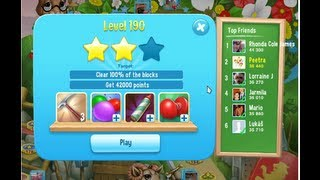 Pet Rescue Saga Level 190 [NEW] 36440 Pts NO BOOSTERS